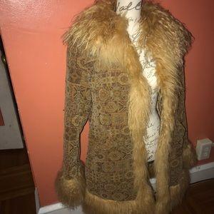 1 Madison Fur Trim Coat